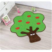 Tapete de Pelúcia Formato Árvore Feliz 80cm x 67cm