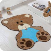 Tapete de Pelúcia Formato Bebê Urso 78cm x 54cm