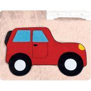 Tapete de Pelúcia Formato Carro Aventura 88cm x 62cm