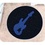 Tapete de Pelúcia Formato Guitarra 65cm x 65cm