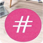 Tapete de Pelúcia Formato Hashtag 65cm x 65cm