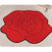 Tapete de Pelúcia Formato Rosa 76cm x 63cm