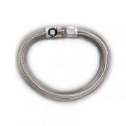 """Tubo Flexível Aço Inox 100cm 1.1/2"""" Rowa"""