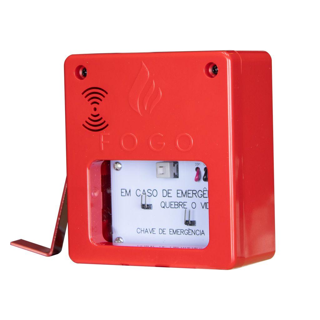 Acionador manual com sirene IP20 12v/24v convencional