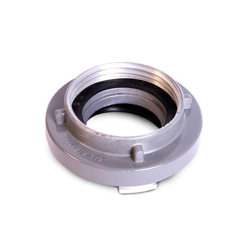 Adaptador storz para rosca globo   1.1/2'' (Storz) X Rosca 2.1/2'' 5FPP em alumínio
