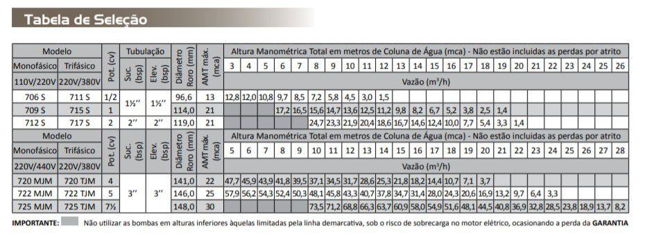 Bomba Auto Escorvante 7,5 CV Tri 220/380 V AAE 725 - Dancor