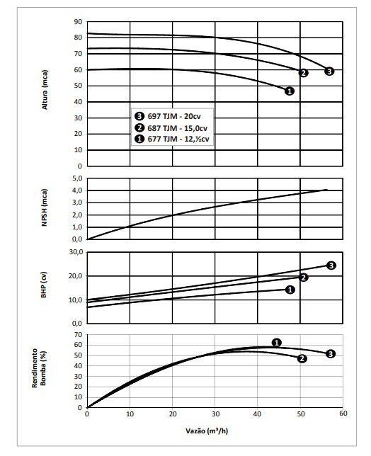 Bomba para Incêndio Centrífuga 20 CV Trifásica TJM 697 Azul - Dancor