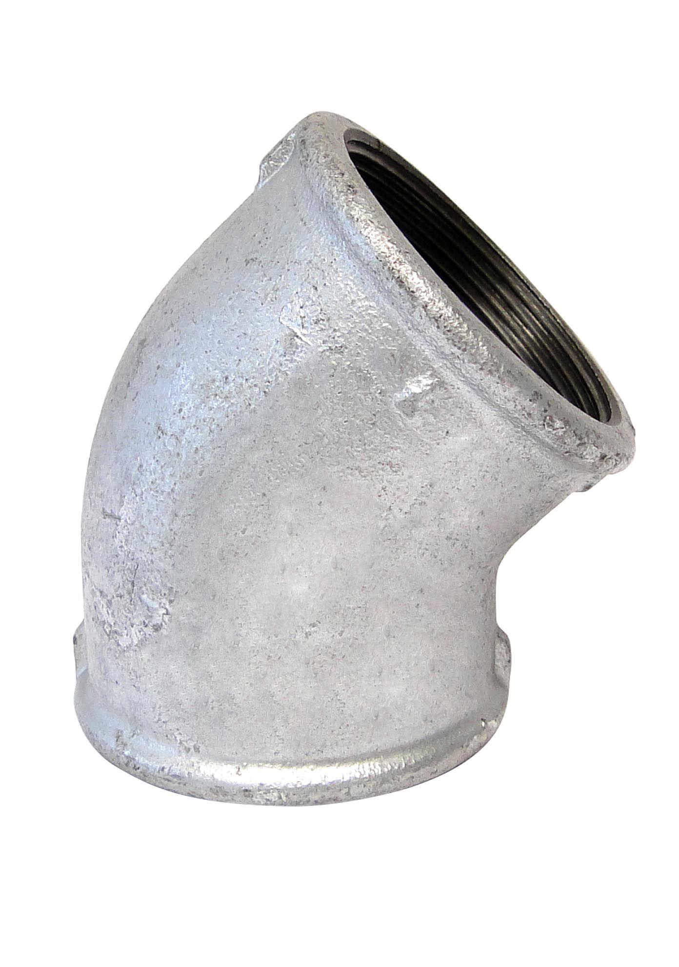 Conexão Cotovelo (Joelho) 45° Galvanizado 2 1/2''