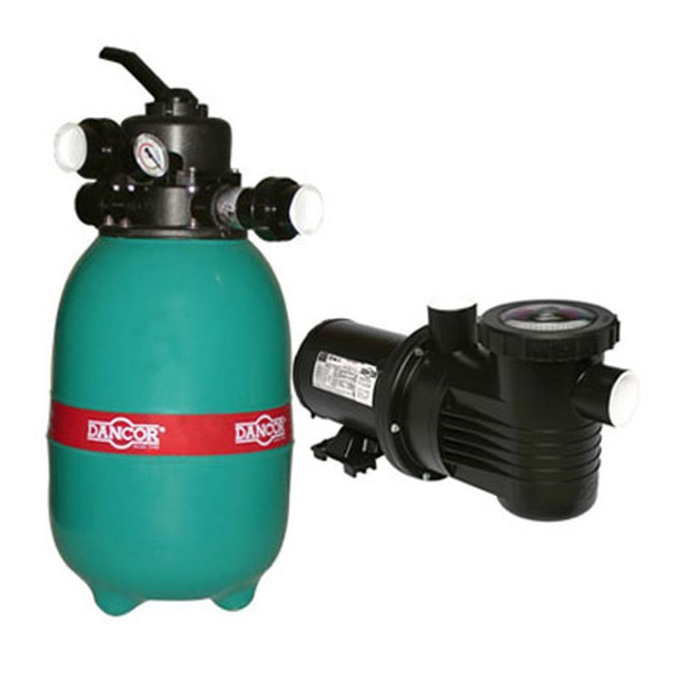 Filtro e Bomba para Piscina 1/3 CV Bivolt Mono DFR-12-4 - Dancor