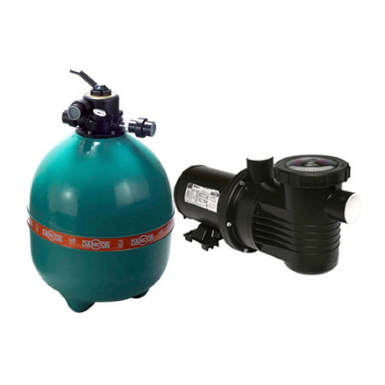 Filtro e Bomba para Piscina 3/4 CV Bivolt Mono DFR-22 - Dancor