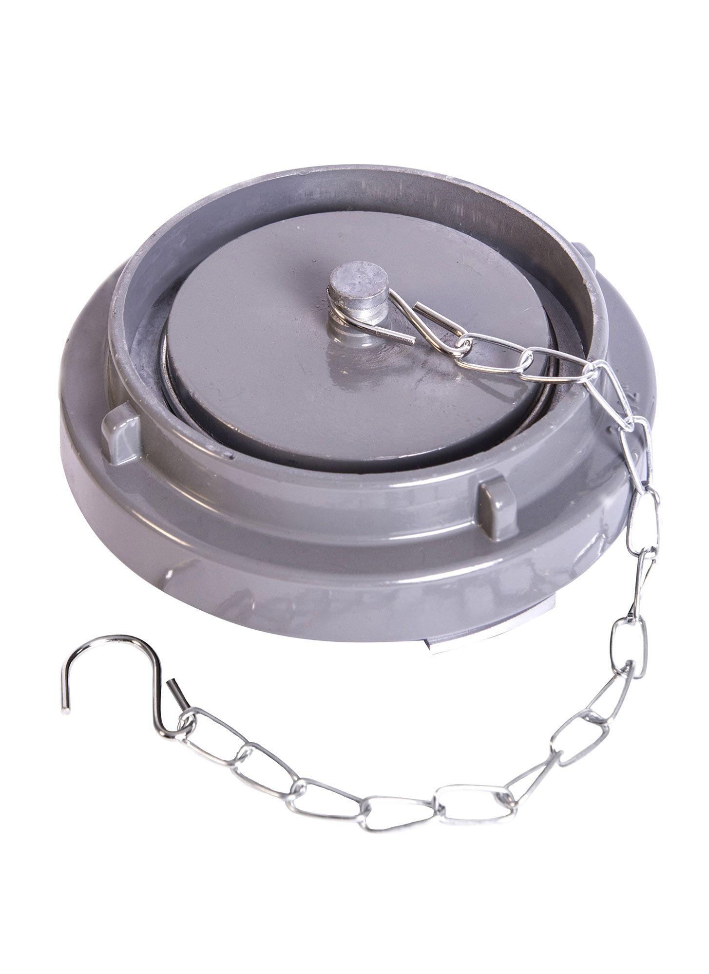 Tampão cego storz com corrente em Alumínio 1 1/2''