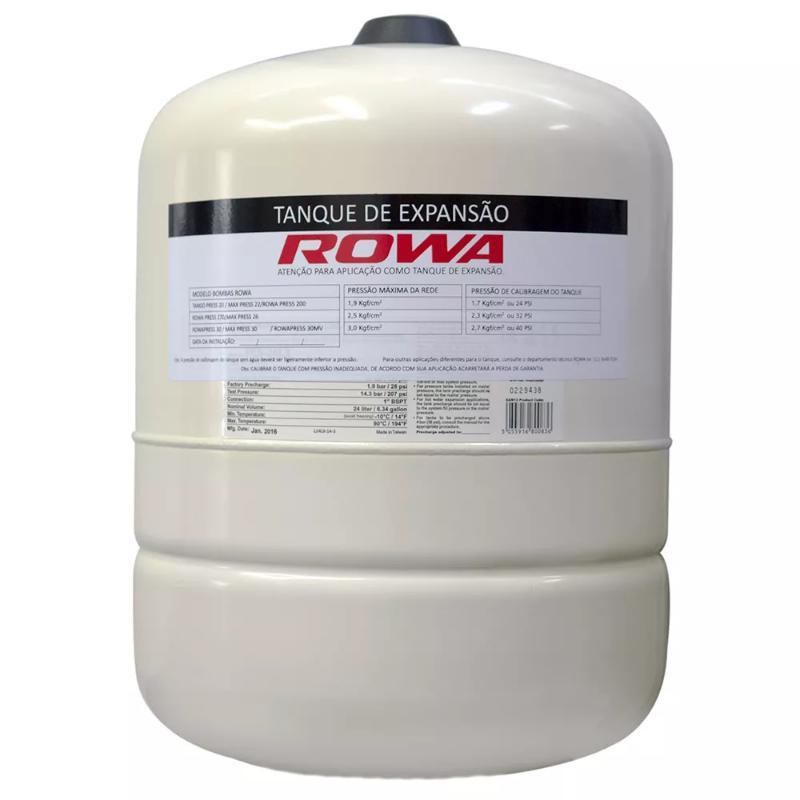 Tanque de Expansão Aço Carbono para 24 litros Rowa