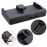 Carregador GoPro Hero3 Hero3+ Hero4 - Duplo Mini e Micro USB - AHDBT-201/301/401