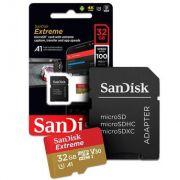 Cartão de Memória MicroSD - Sandisk Extreme 32GB 100 MB/s U3