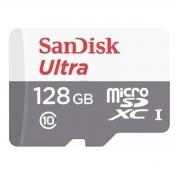 Cartão de Memória MicroSD - Sandisk Ultra 128GB 100MB/s Classe 10