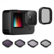 Kit de Filtros CPL ND8 ND16 ND32 para GoPro Hero9 Black - Telesin