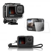 Kit Proteção - Caixa Estanque - Capa Silicone - Película Vidro - GoPro Hero9 - Shoot