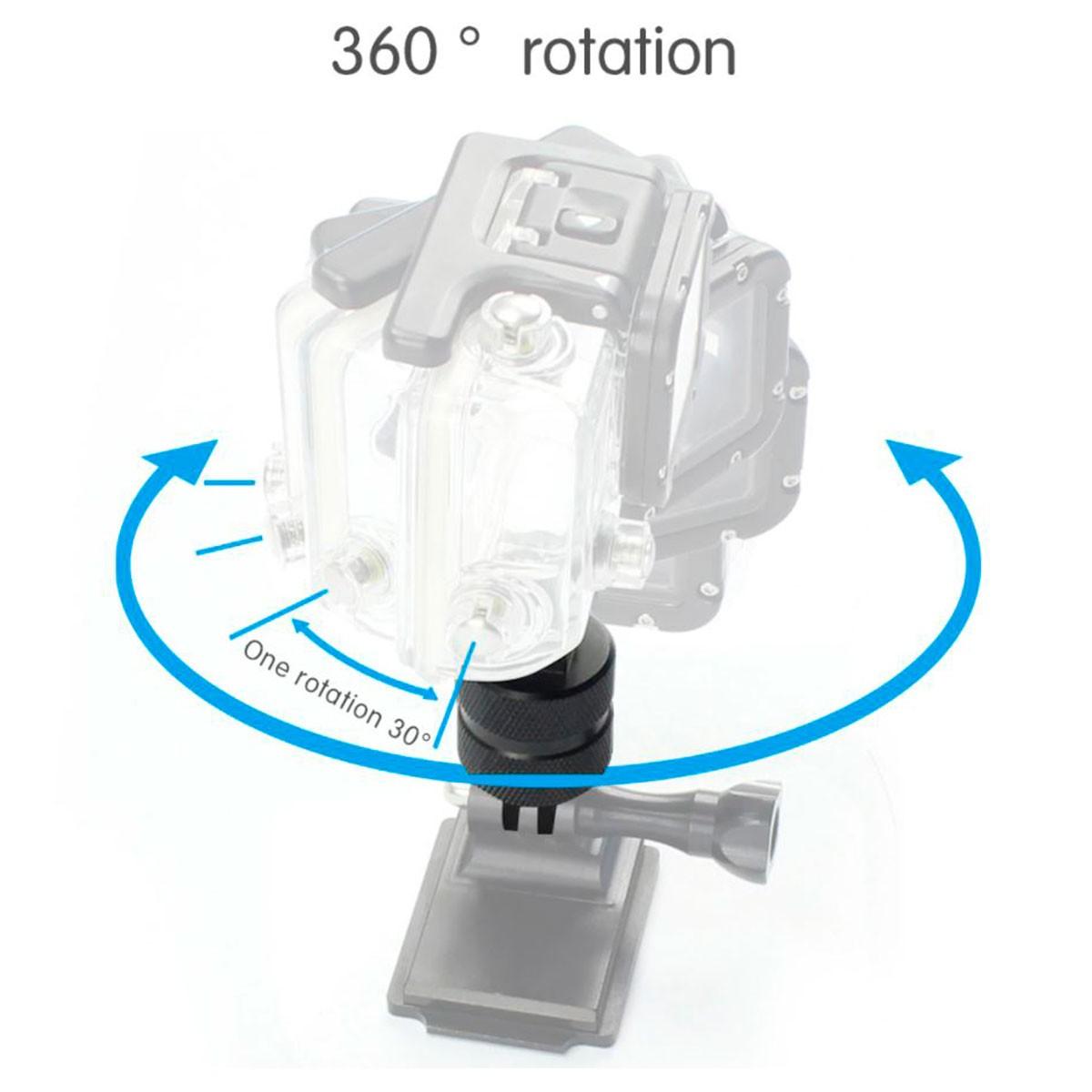 Adaptador Pivot Giratório 360 Graus Aluminio para Gopro