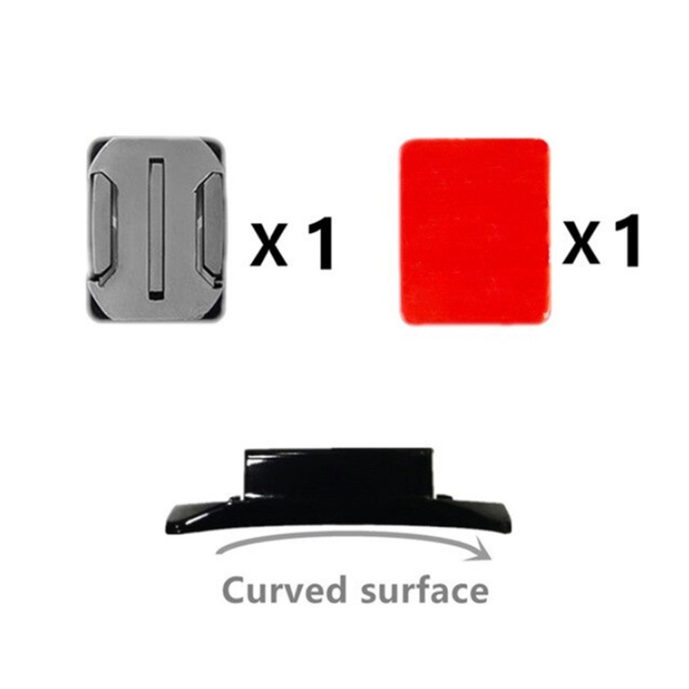 Base de Fixação Adesiva Curva - 1 Unidade - GoPro SJCAM Yi Eken