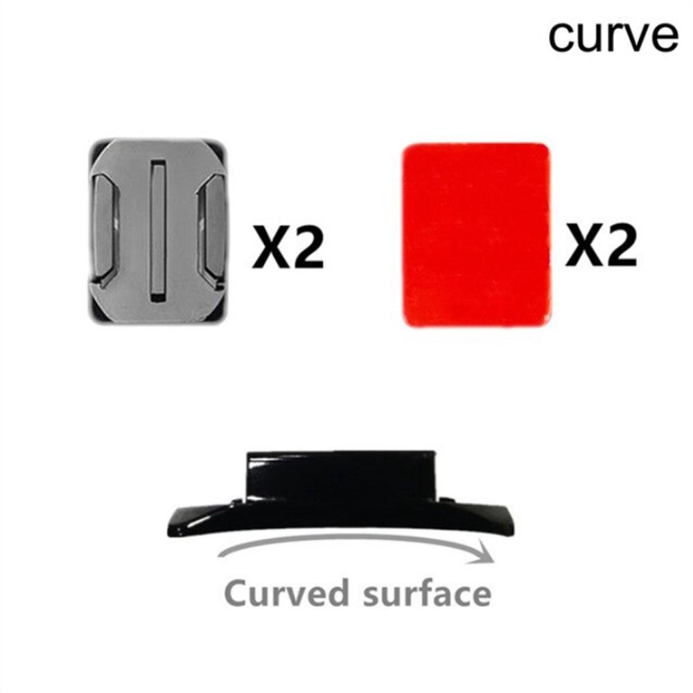 Bases de Fixação Adesiva Curva - 2 Unidades - GoPro SJCAM Yi Eken