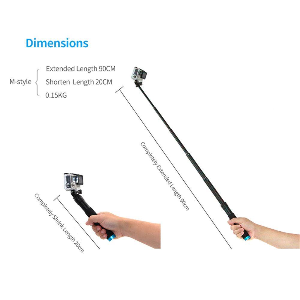 Bastão Extensor Tripé Suporte de Celular - Pau de Selfie - 90 cm - Alumínio - Telesin