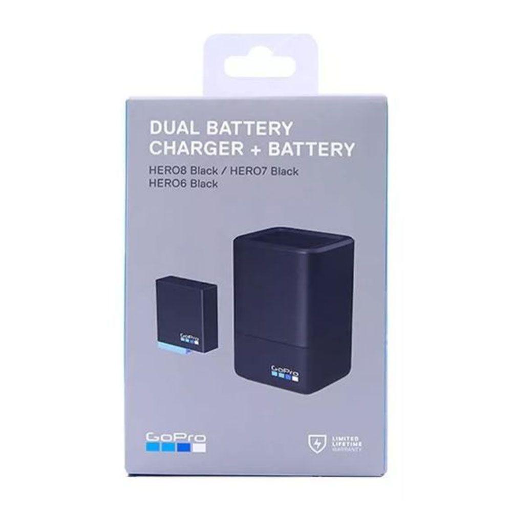 Bateria e Carregador Duplo - GoPro Hero8 Hero7 Hero6 Hero5 - AJDBD-001