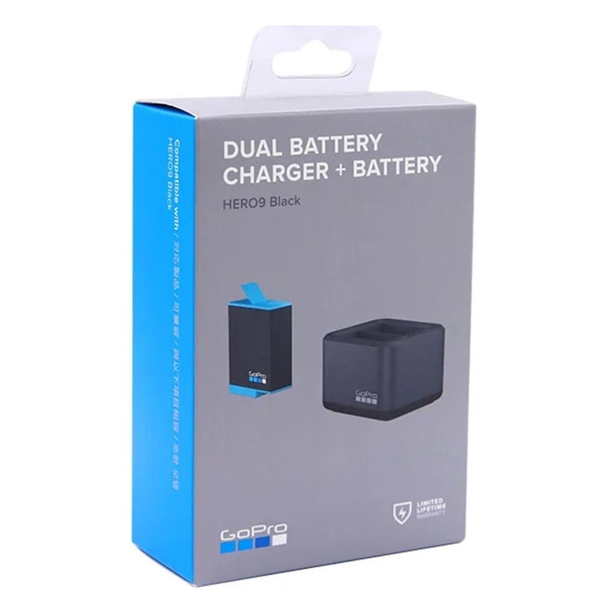 Bateria e Carregador Duplo - GoPro Hero9 Black - ADDBD-001