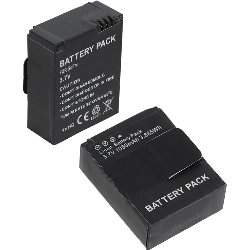 Bateria GoPro Hero3 - 3.7V - 1050mAh - 3.9Wh - Li-ion - AHDBT-201 e AHDBT-301
