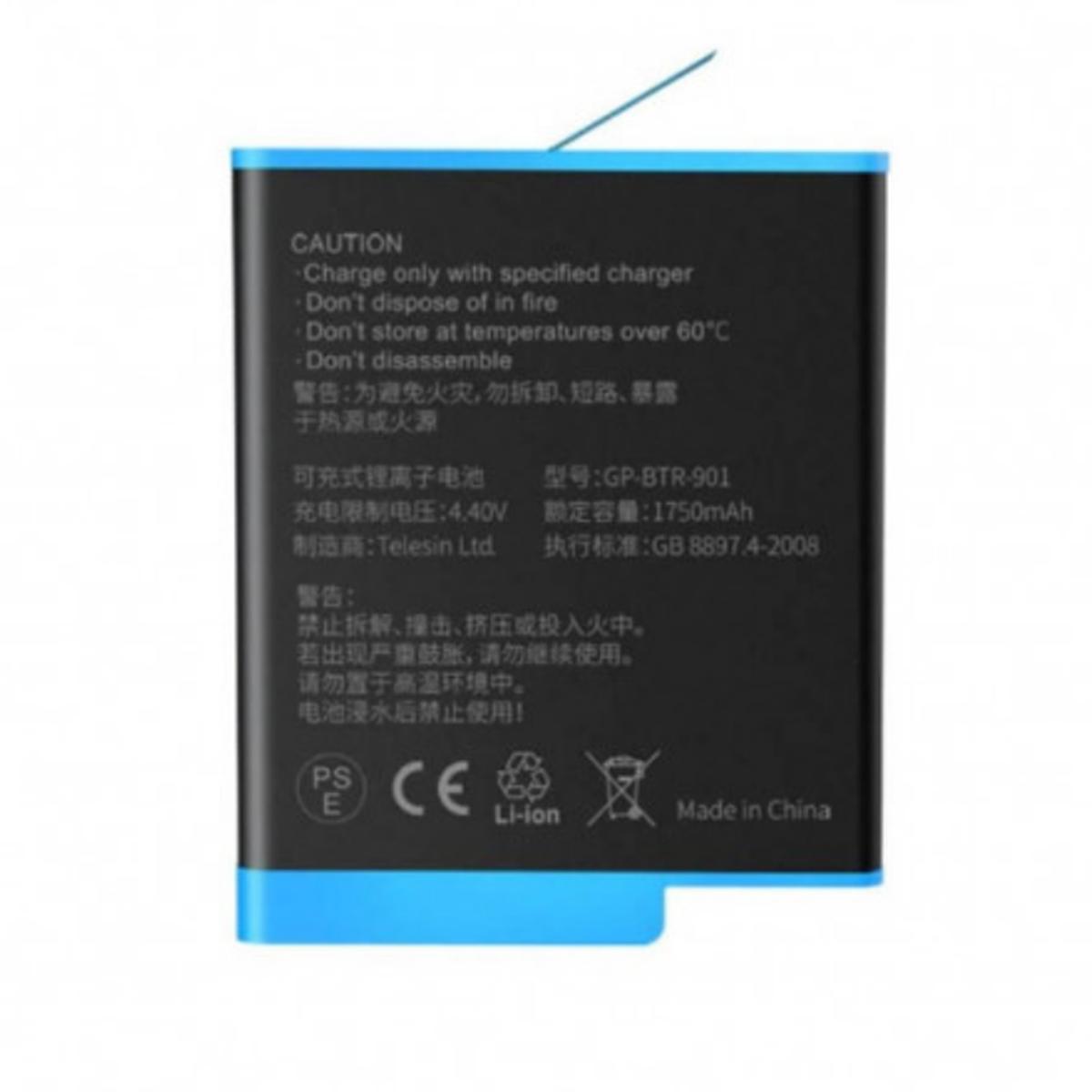 Bateria para GoPro Hero9 Black - 1750mAh Li-ion - Telesin