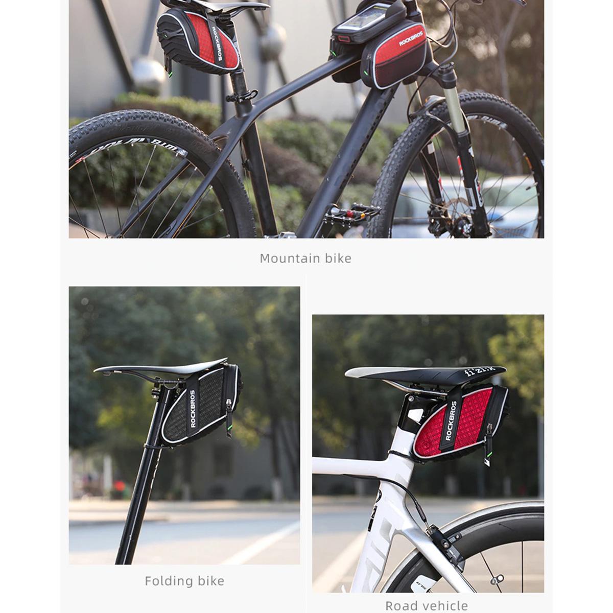 Bolsa de Selim - Impermeável 1.2 Litros Rockbros - Ciclista Mountain Bike