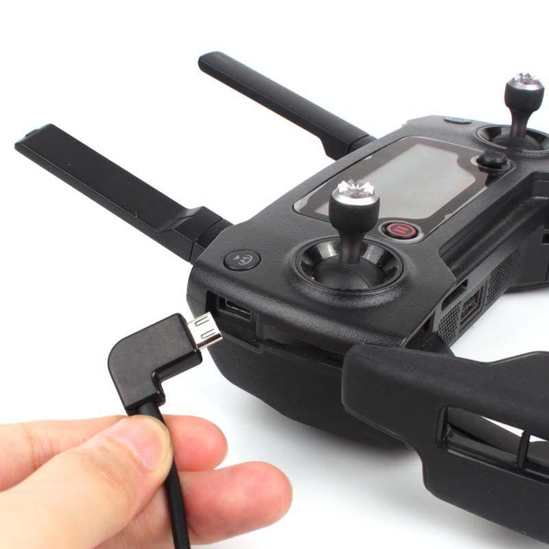 Cabo de Dados - Controle Remoto - Drone DJI Spark - Mavic Pro - Mavic Air