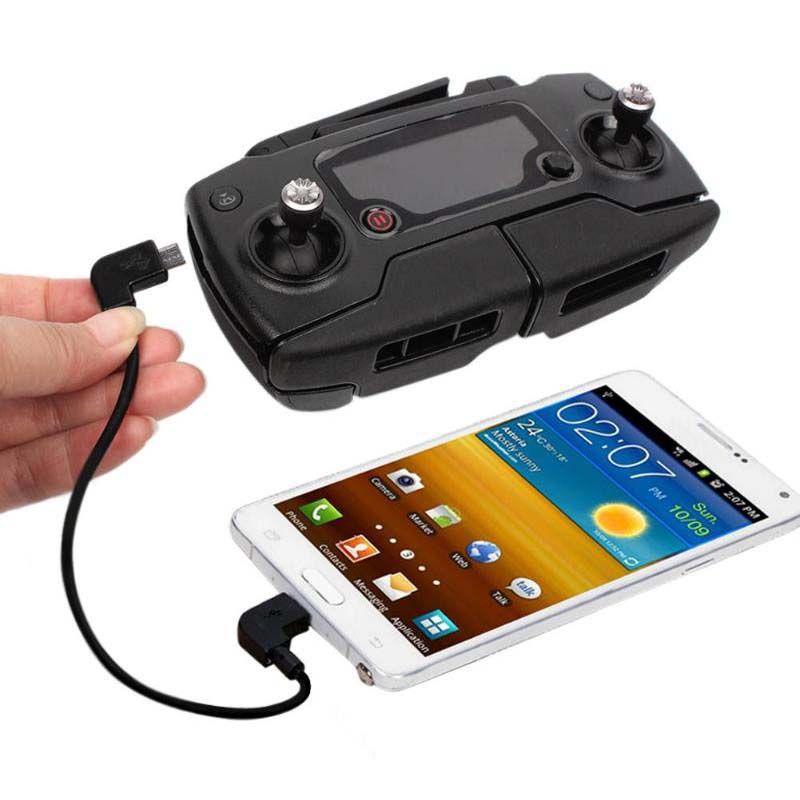 Cabo OTG Controle Remoto Drone DJI - Micro USB x Lightning - Iphone Ipad