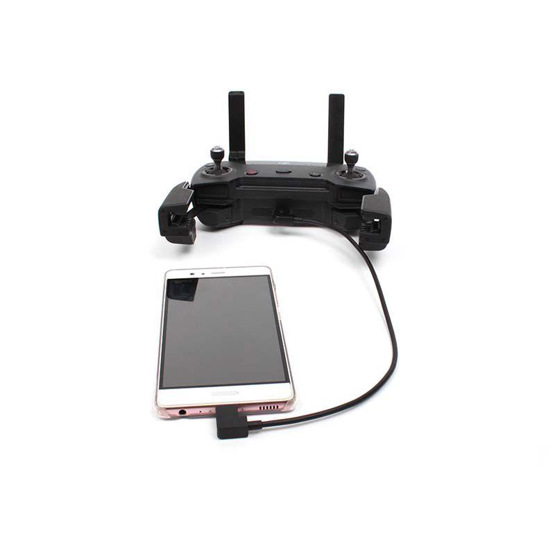 Cabo OTG Controle Remoto Drone DJI - Micro USB x Tipo C - Android