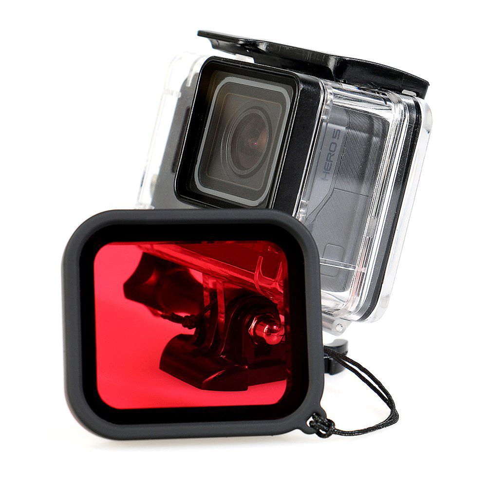 Caixa Estanque - GoPro Hero5 Hero6 Hero7 Black - Filtro de Mergulho - 45 Metros - Telesin