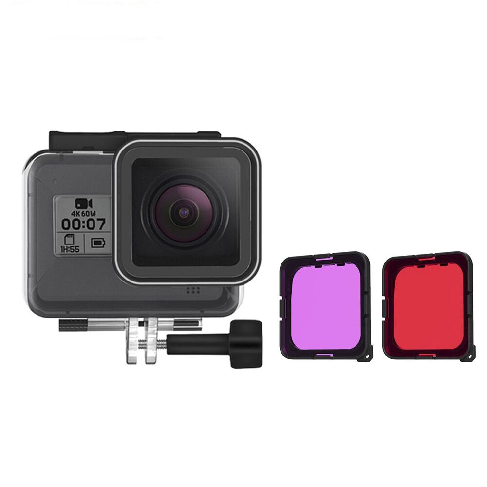 Caixa Estanque - GoPro Hero8 Black - Filtro de Mergulho - 45 Metros - Telesin