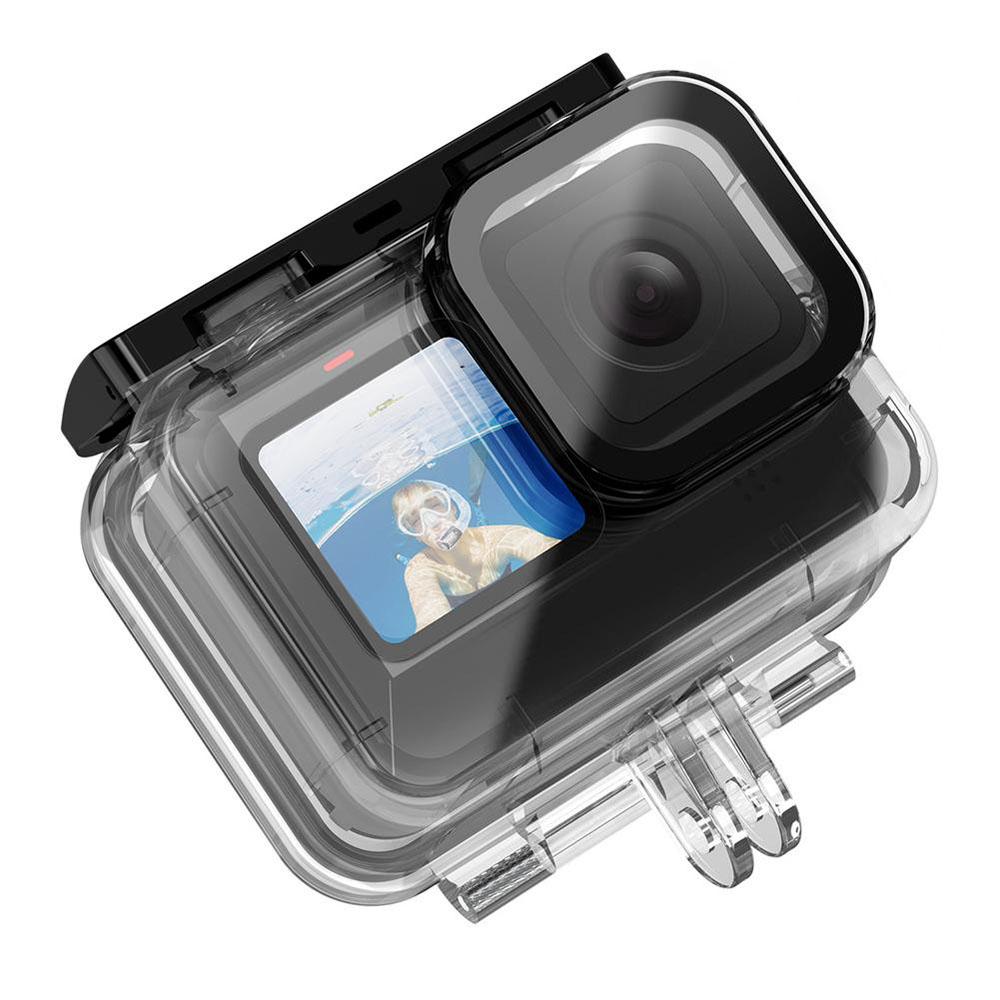 Caixa Estanque para GoPro Hero9 e Hero 10 Black - Mergulho - 50 Metros - Telesin