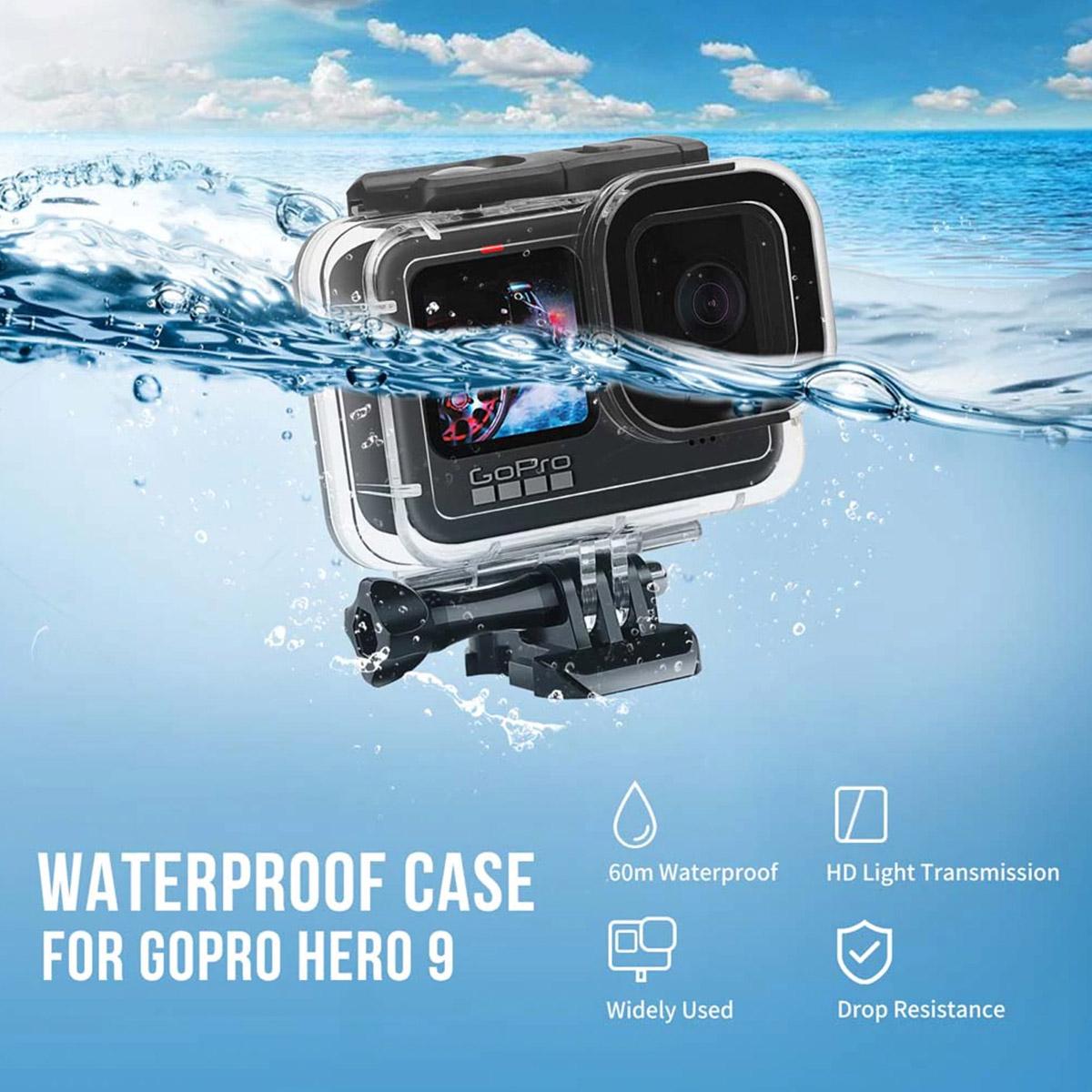 Caixa Estanque para GoPro Hero9 e Hero10 Black - Mergulho - 50 Metros