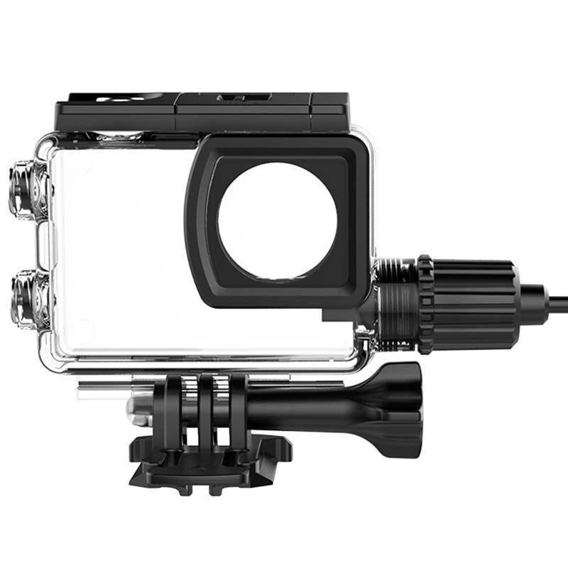 Caixa Estanque - SJCAM SJ6 Legend - Skeleton - Carregador USB