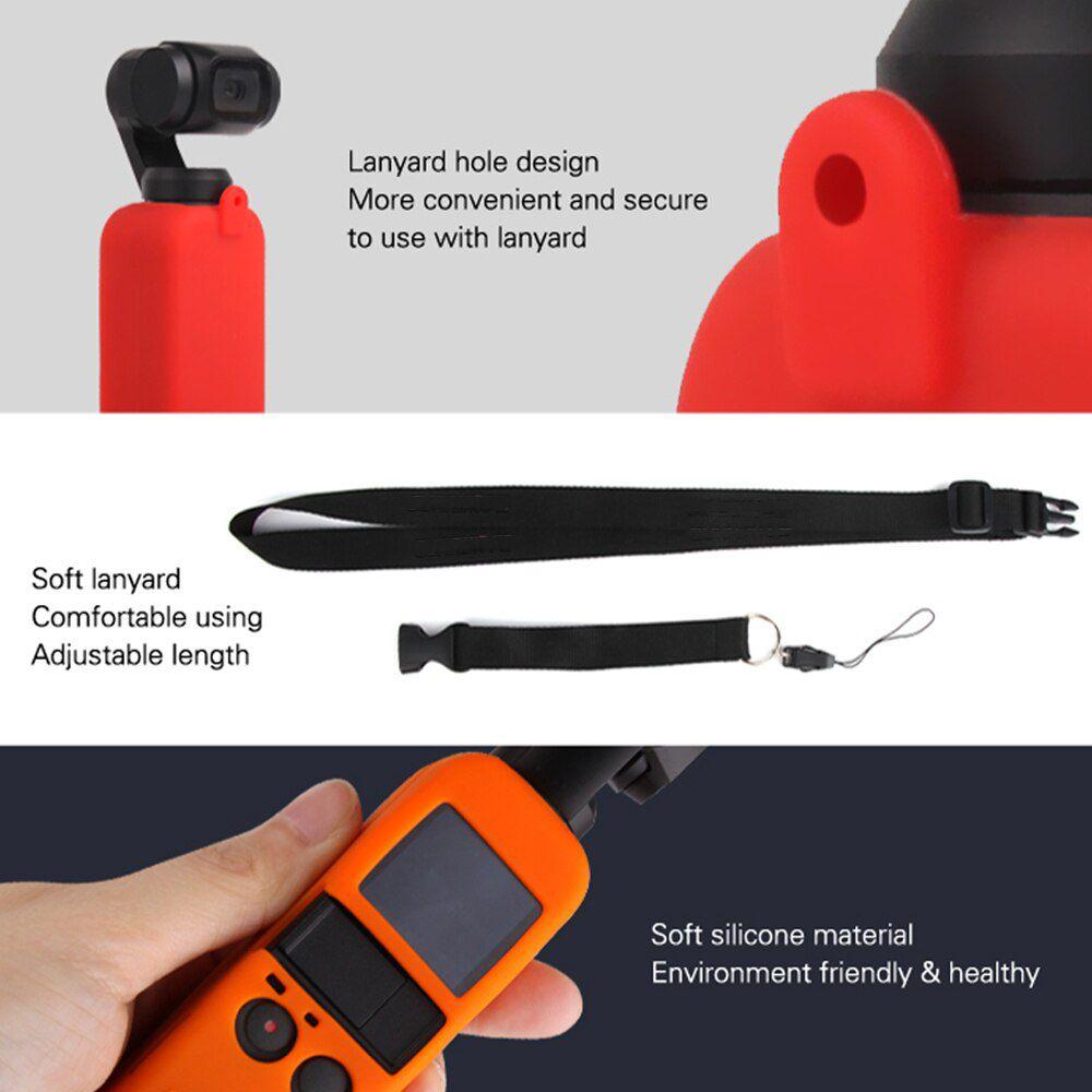Capa de Silicone com Cordão - Osmo Pocket