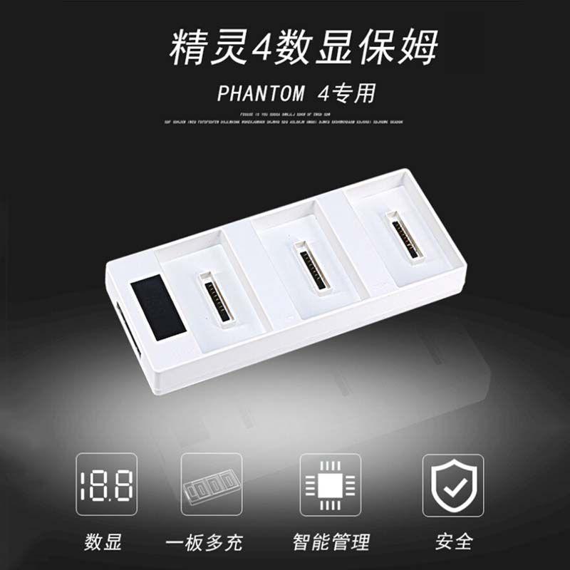 Carregador de Baterias 3 em 1 com Visor - Drone DJI Phantom 4 e Phantom 4 Pro