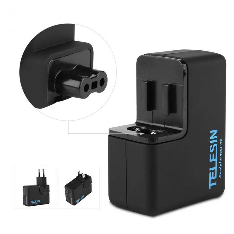 Carregador para GoPro - Duplo de Parede - Telesin