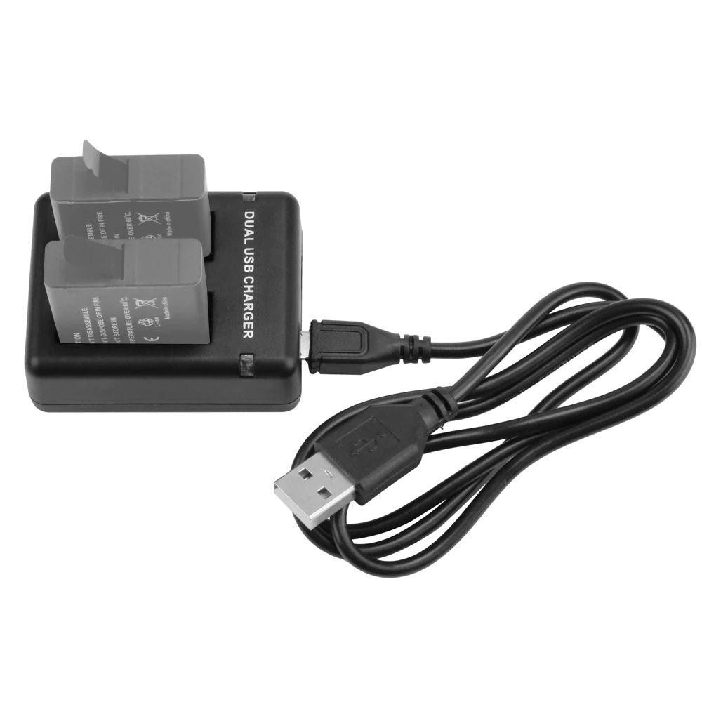 Carregador GoPro Hero8 Hero7 Hero6 Hero5 - Duplo Micro USB e USB Tipo C