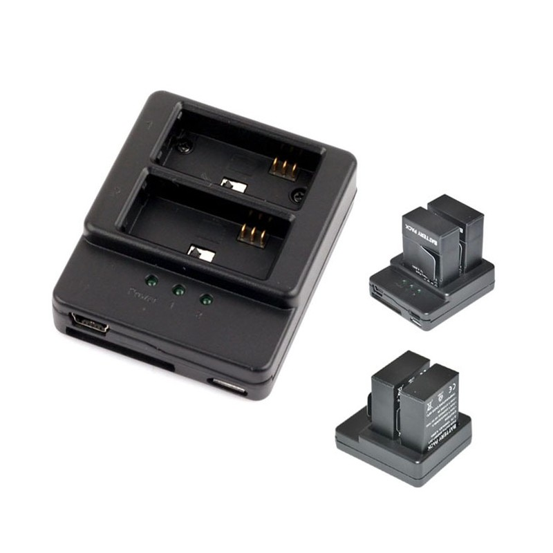 Carregador GoPro Hero3 - Duplo Mini e Micro USB - AHDBT-201/301