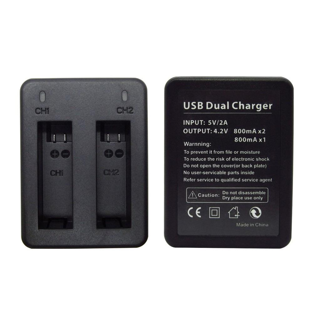 Carregador GoPro Hero4 - Duplo Mini USB e Micro USB - AHDBT-401