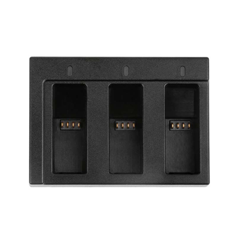 Carregador GoPro Hero8, Hero7, Hero6 e Hero5 - Triplo Micro USB e USB Tipo C