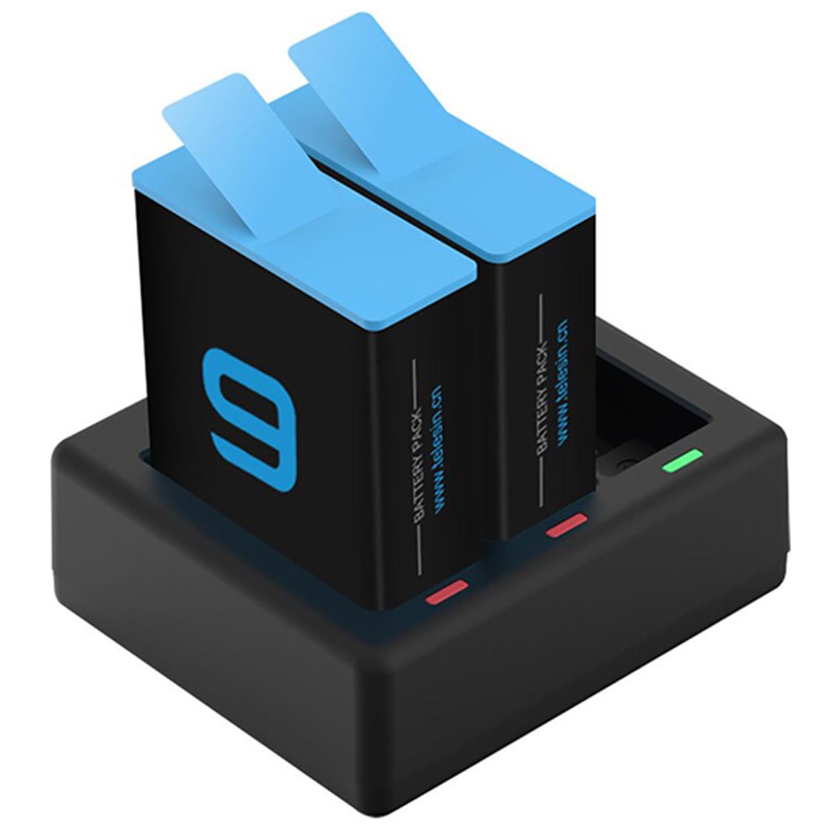 Carregador Triplo com 2 Baterias - GoPro Hero 9 Black - Telesin
