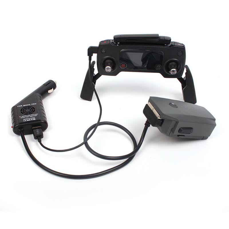 Carregador Veicular 2 em 1 - Bateria e USB - Drone DJI Mavic Pro