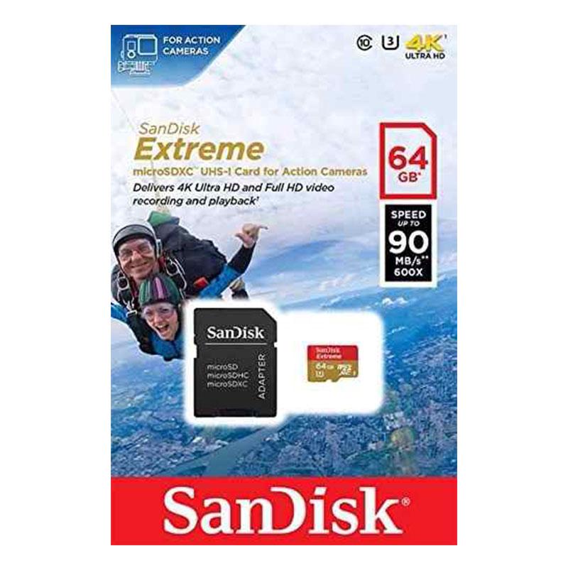 Cartão de Memória MicroSD - Sandisk Extreme 64GB 100 MB/s U3