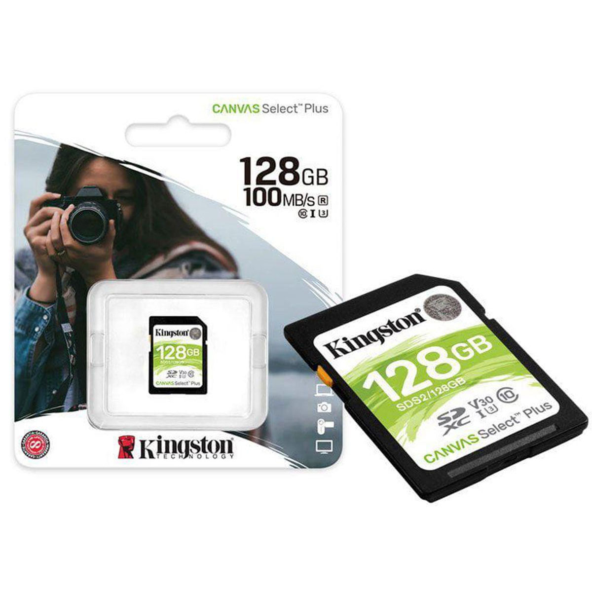 Cartão Memória SDXC Kingston Canvas Select Plus - 128gb