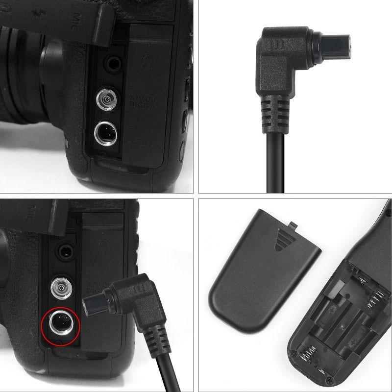 Controle Remoto com Timer - Cabo Disparador - RS-80N3 - Canon